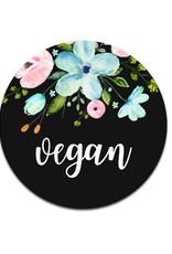 """25 Sticker """"vegan"""", Geschenkaufkleber"""