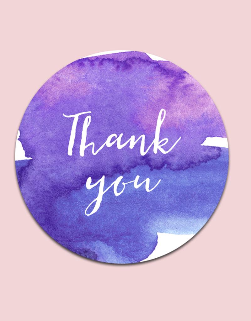 "50 Sticker ""Thank you"""