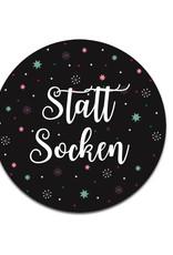"""25 Sticker """"Statt Socken"""" Weihnachtsdesign"""