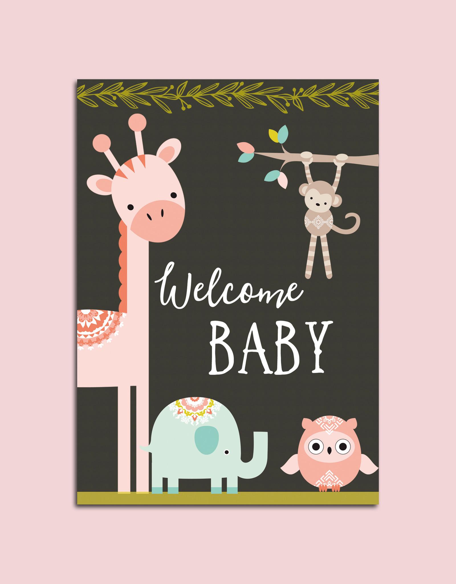 "Postkarte Geburt ""Welcome Baby"""