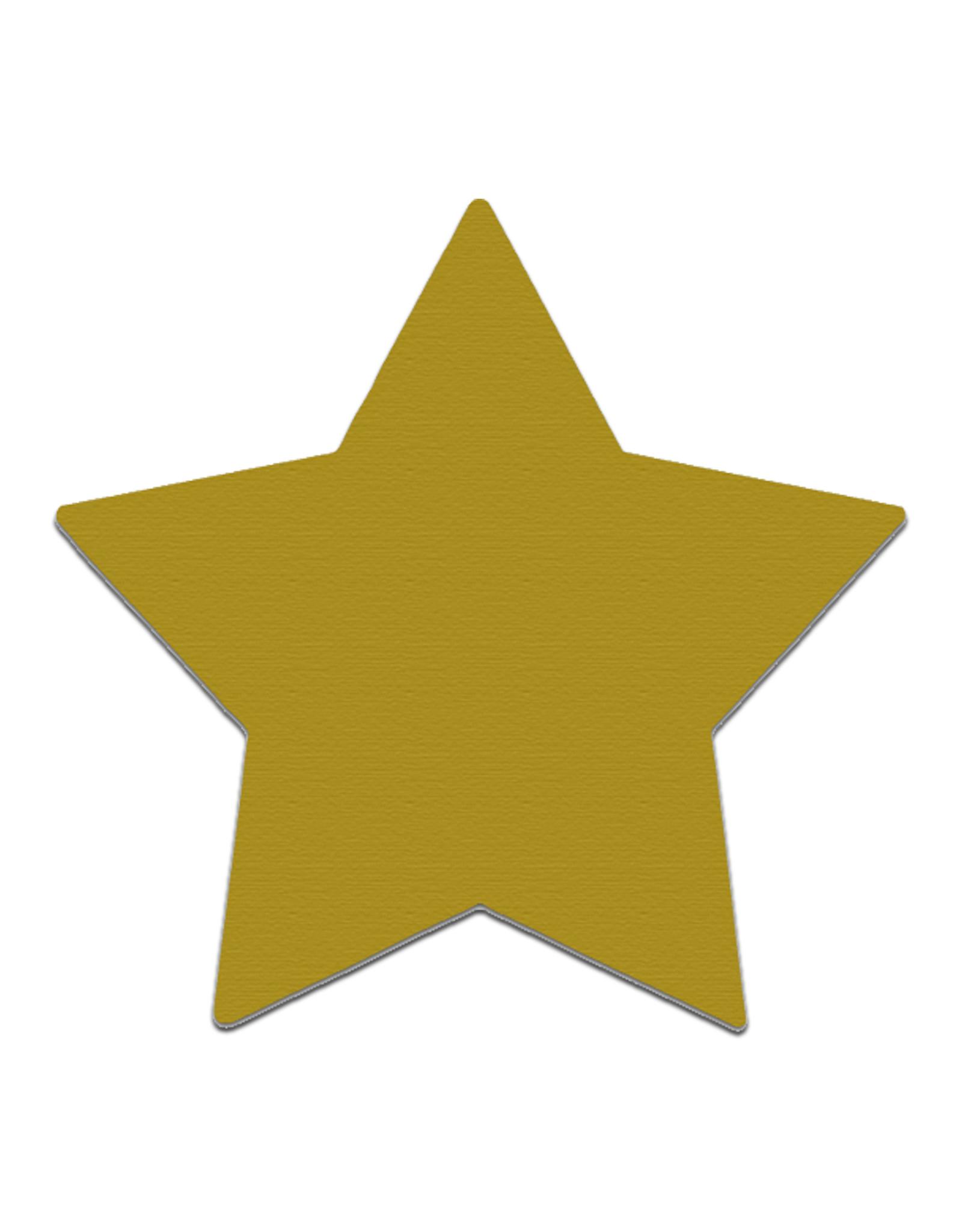 25 Rubbeletiketten Stern 6 cm