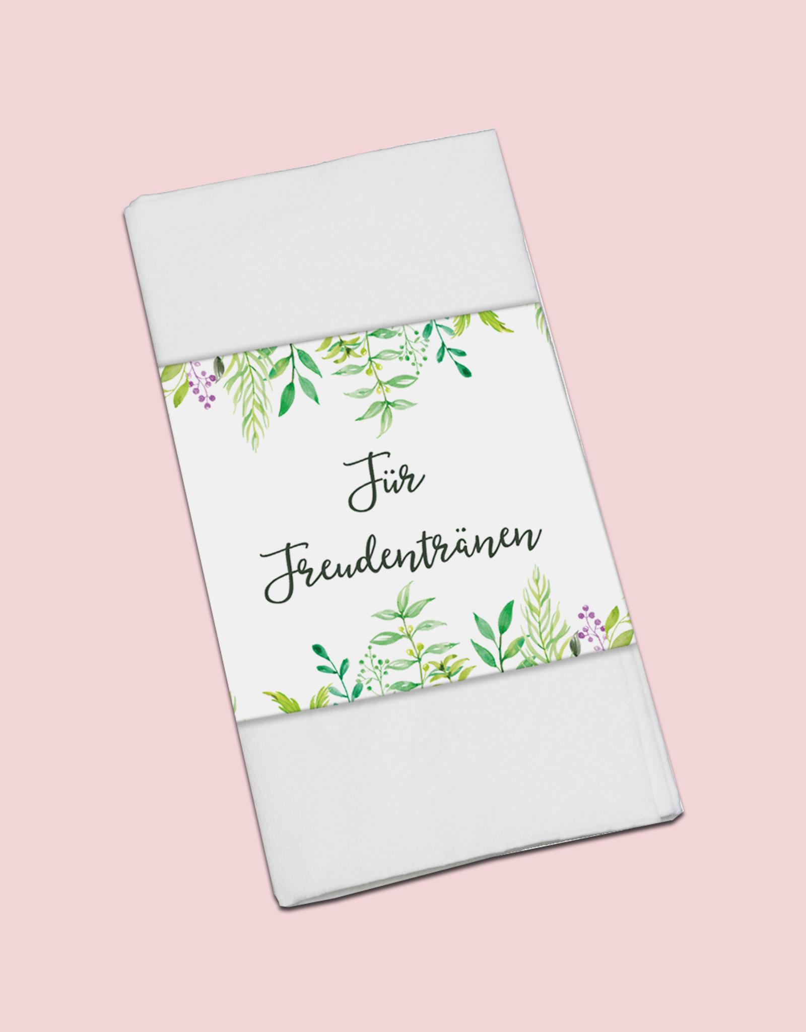 """50 x Banderole """"Für Freudentränen"""" Hochzeitsdeko - Copy"""