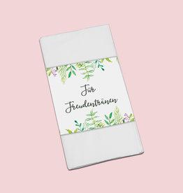 """50 x Banderole """"Für Freudentränen"""" Grüne Hochzeit"""