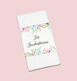 """50 x Banderole """"Für Freudentränen"""" Weiße Hochzeit"""
