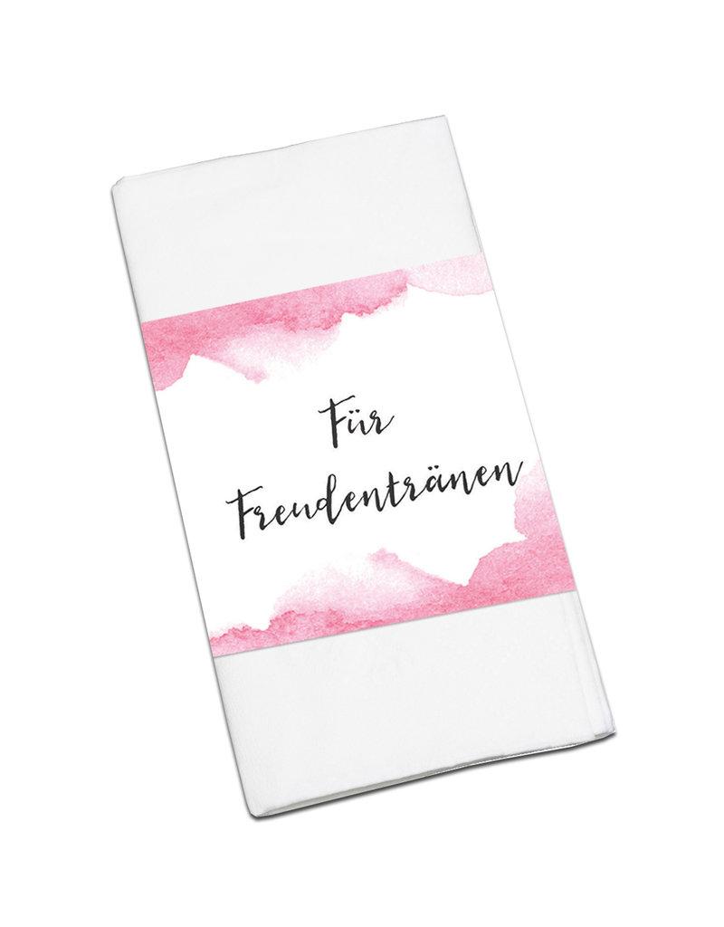 """50 x Banderole """"Für Freudentränen"""" Hochzeitsdeko"""