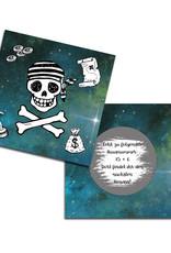 10 Hinweiskarten zum Rubbeln für die Schatzsuche