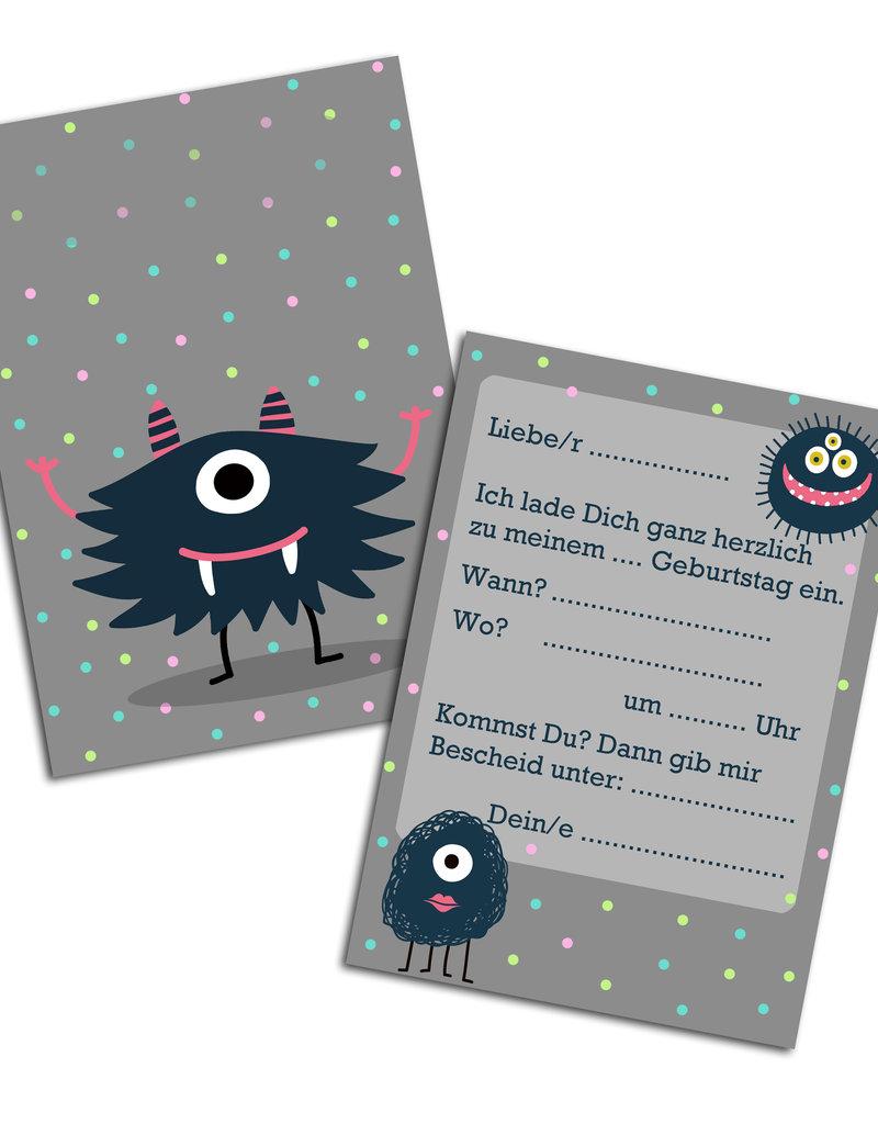 "Einladungskarte Kindergeburtstag  ""Monster"""