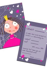 """Einladungskarte Kindergeburtstag  """"Prinzessin"""""""