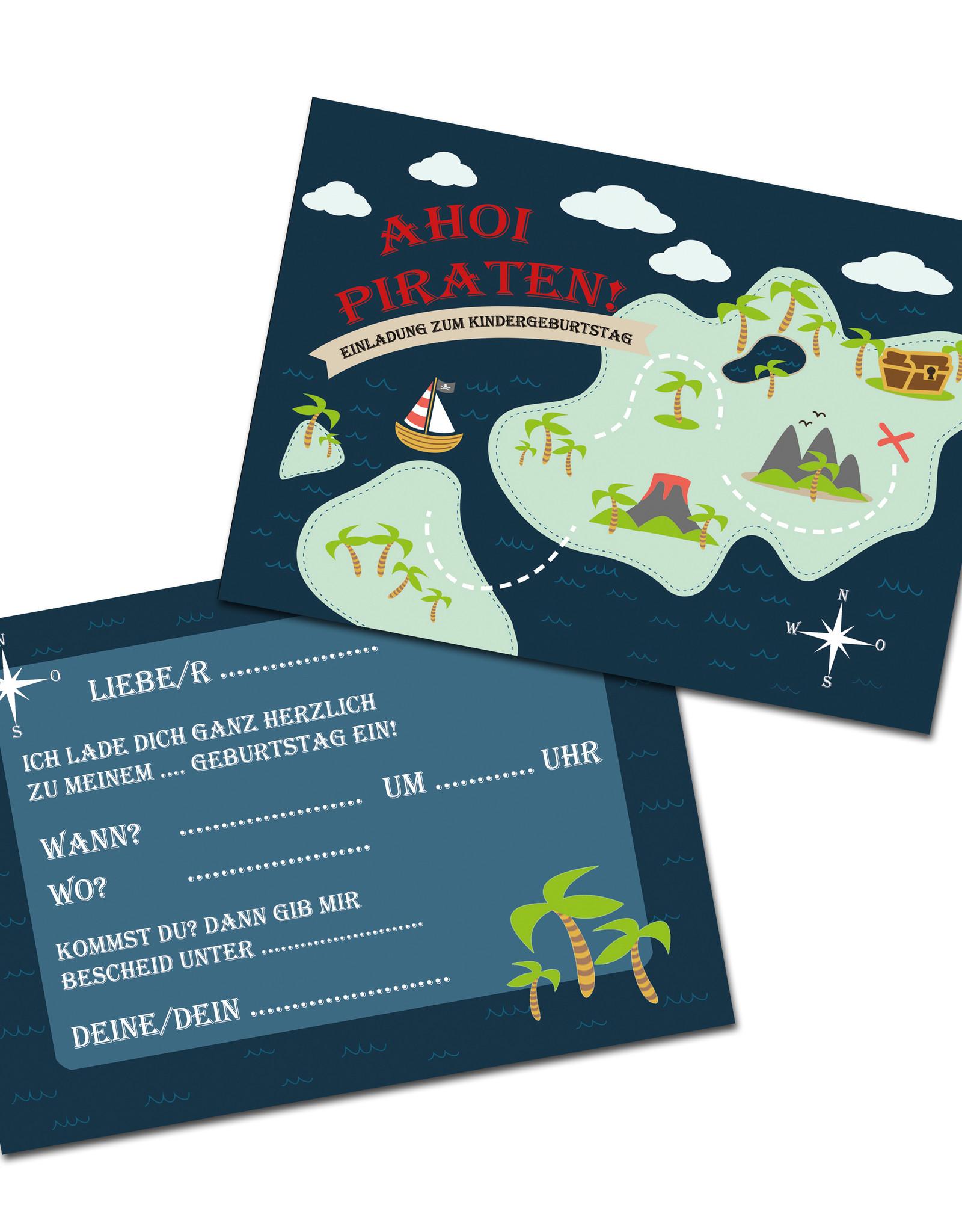 """Einladungskarte Kindergeburtstag  """"Pirat"""""""