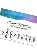 """Postkarte Geburtstag """"Nimm Dir was du brauchst"""""""