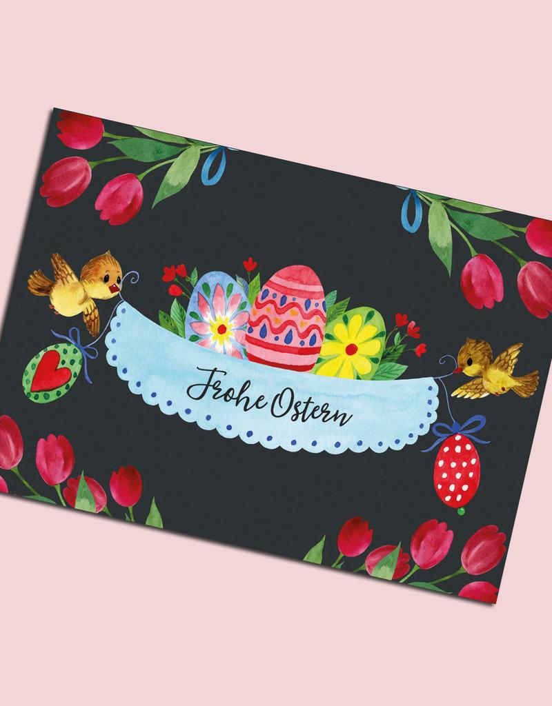 "Postkarte Ostern, Osterkarte ""Frohe Ostern"""