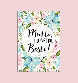 """Muttertagskarte """"Mutti Du bist die Beste"""""""