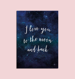 "Postkarte Valentinstag ""I love you to the moon and back"""
