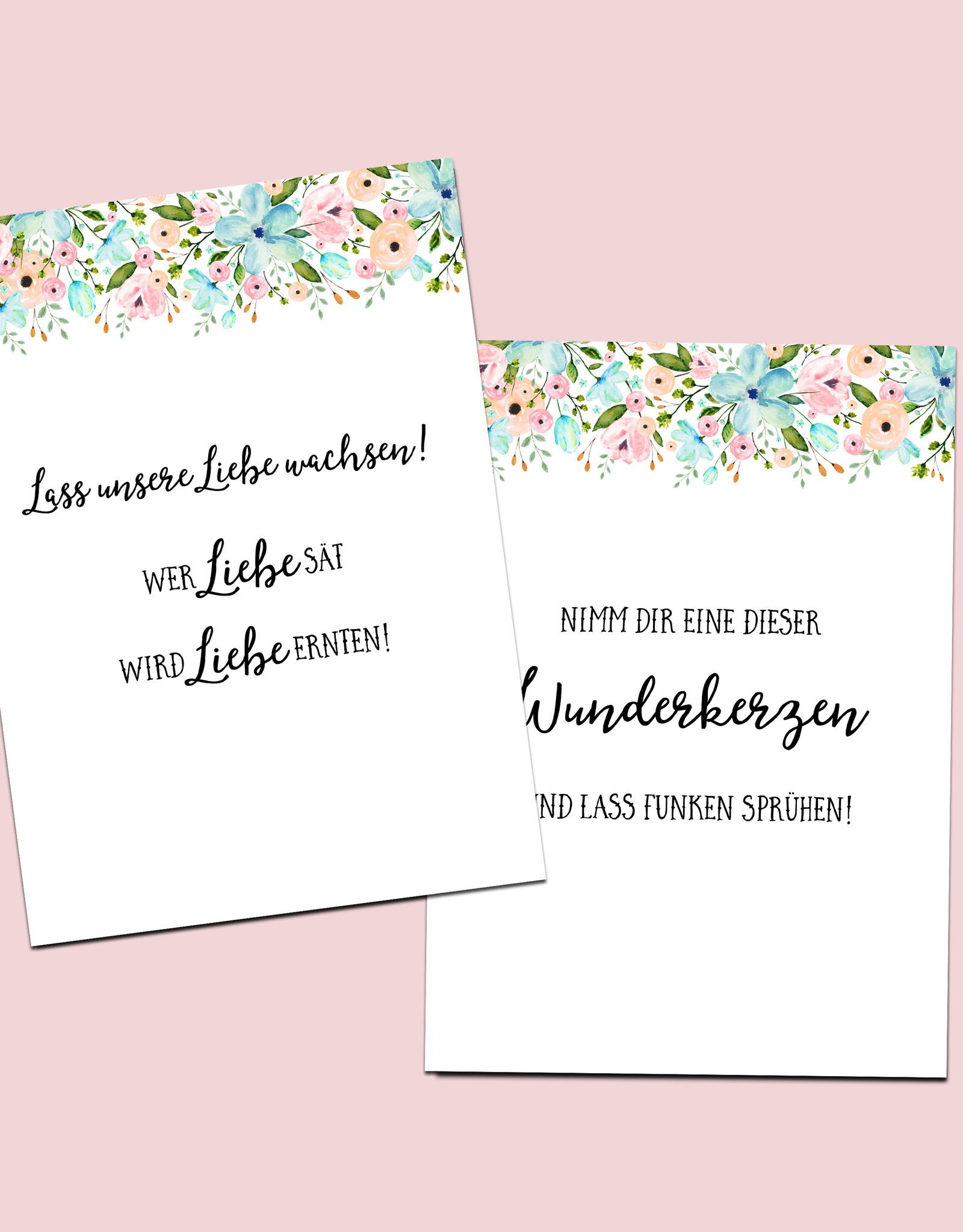 Schild Hochzeit 8er Set, Hochzeitsschilder Weiße Hochzeit