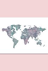 Poster Weltkarte DIN A3