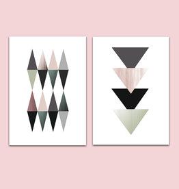 Poster 2er Set, Design Poster Tangram