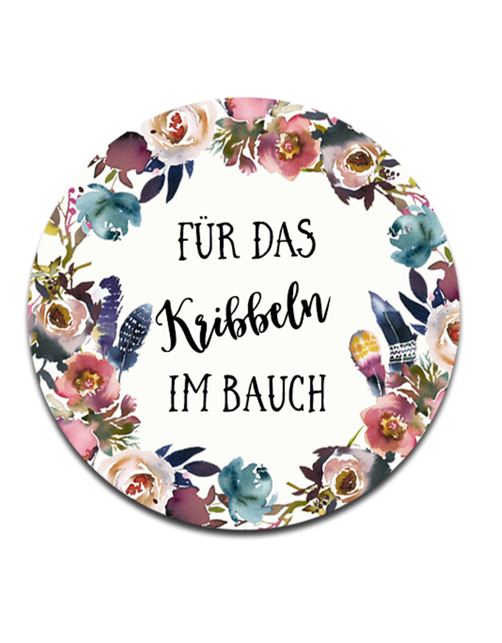 """50 Sticker """"Für das Kribbeln im Bauch!"""" BOHO Hochzeit rund"""