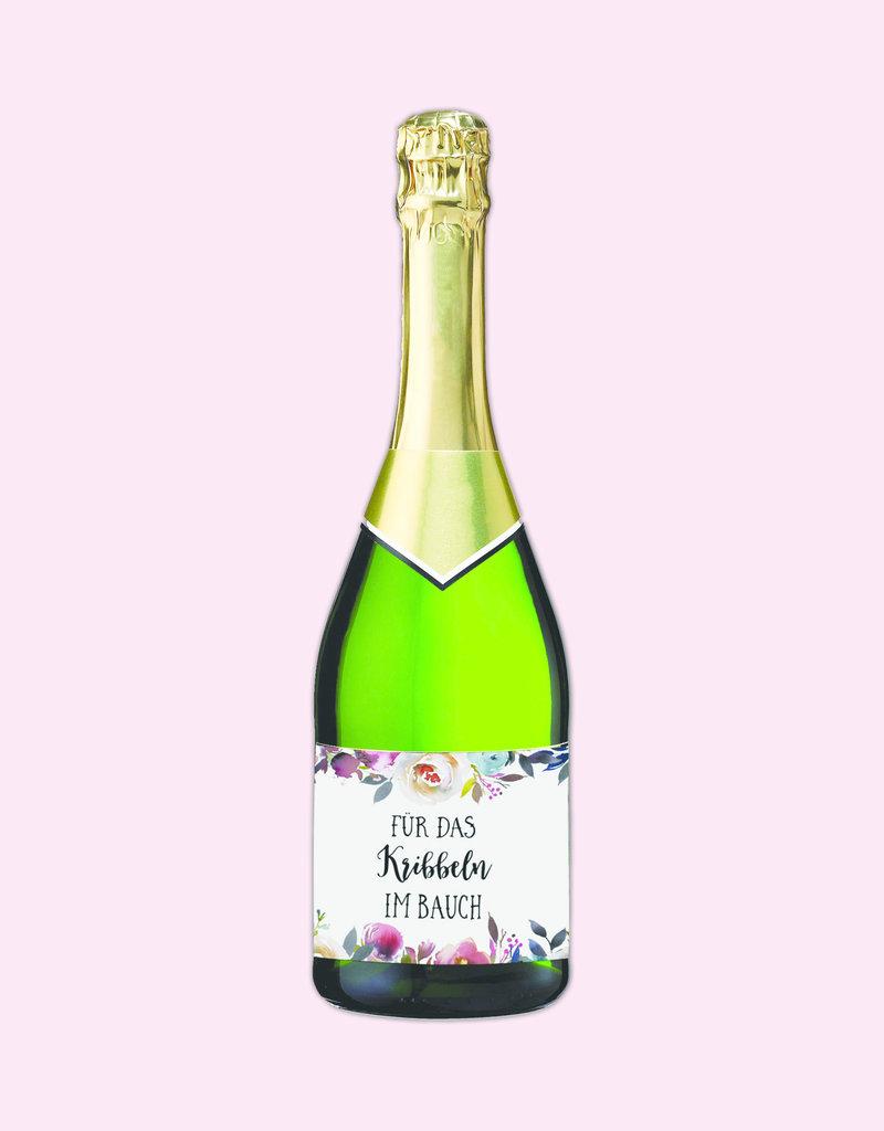 """25 Flaschenetiketten """"Für das Kribbeln im Bauch"""" Aufkleber für Sektflaschen"""