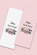 50 x Banderole Schokoladentafeln BOHO Hochzeit
