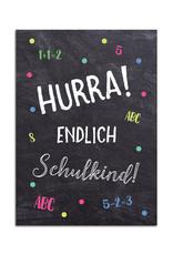 Glückwunschkarte Schulanfang