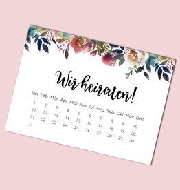 "Save the date Karten ""BOHO Hochzeit Kalender"" 50 Stück"