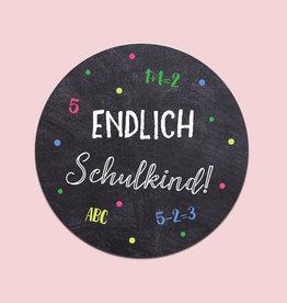 """50 x Sticker """"Endlich Schulkind"""""""