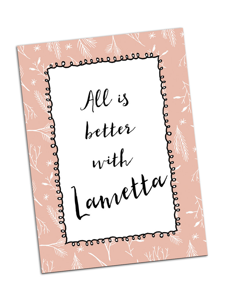 """Postkarte Weihnachten """"Lametta"""""""