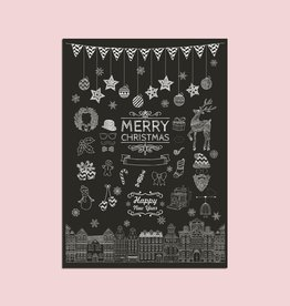 "Postkarte ""Kreide"", Weihnachtskarte"