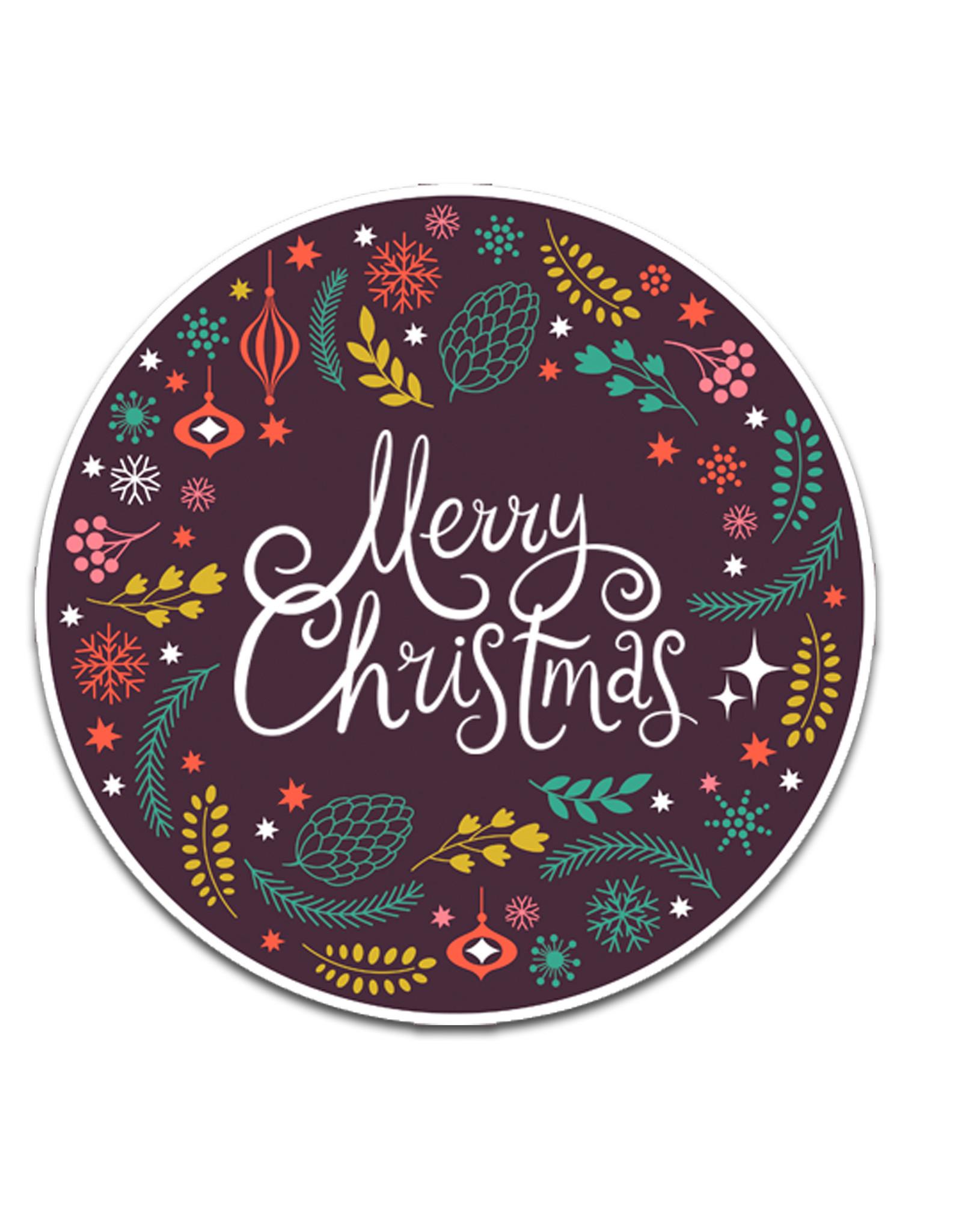 25 Sticker Merry Christmas, Christmas sticker