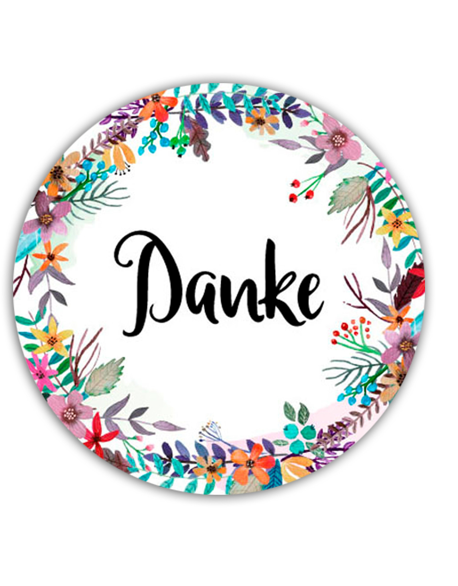 "50 Sticker ""Danke"""