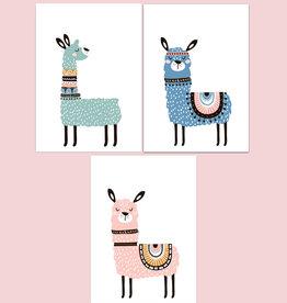 Kinderzimmerbilder 3er Set Lama