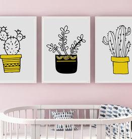Kinderzimmerbilder 3er Set Kaktus