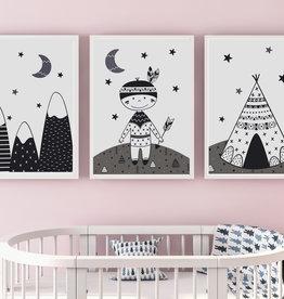 Kinderzimmerbilder 3er Set Indianer