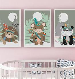 Kinderzimmerbilder 3er Set Dschungel