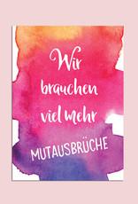 "Postkarten Set ""Sprüche"" Aquarell"