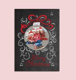1 x Weihnachtskarte zum Rubbeln inkl. Rubbelsticker