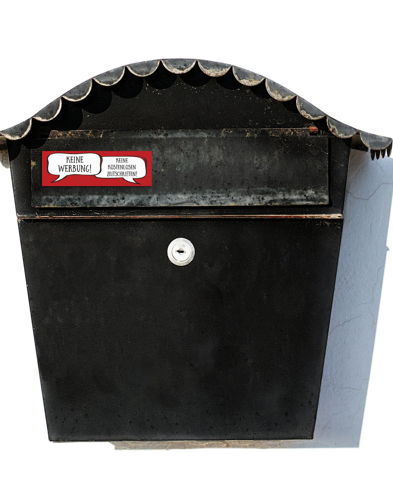 Keine Werbung Aufkleber Briefkasten