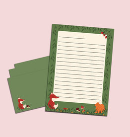 Briefpapier Set Wald DIN A5 Briefpapier Kinder inkl. Umschläge