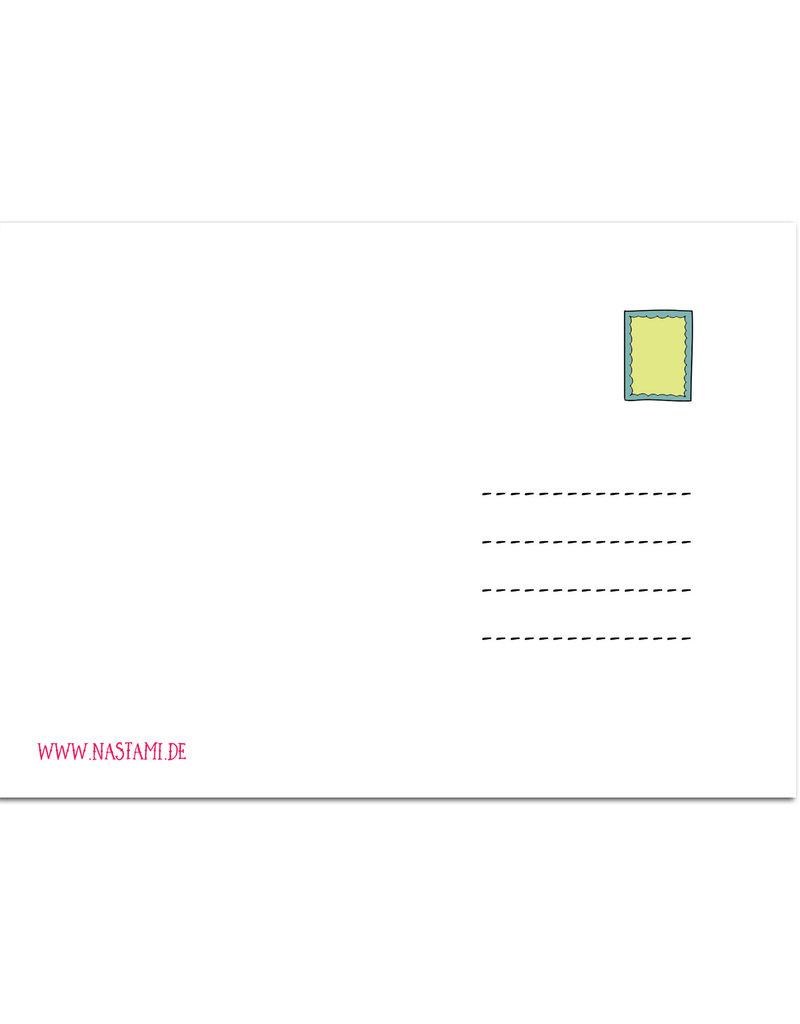 """Postkarte Zitat """"Ohne Regen keine Blumen"""""""