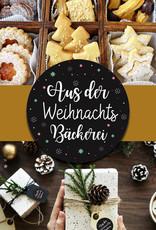 """25 Sticker """"Aus der Weihnachtsbäckerei"""" Weihnachtsaufkleber Weihnachtsgeschenke"""