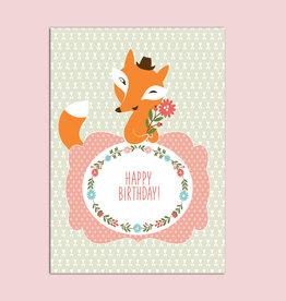 "Geburtstagskarte ""Fuchs"" Postkarte Geburtstag"