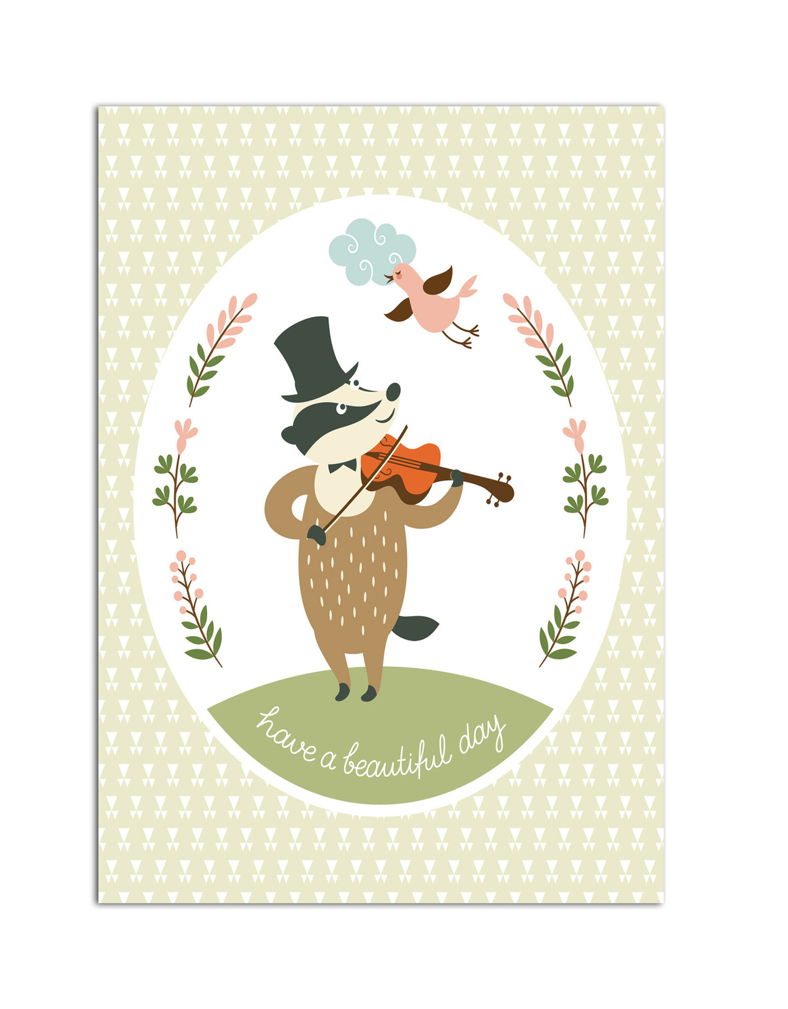 "Geburtstagskarte ""Dachs"" Postkarte Geburtstag"