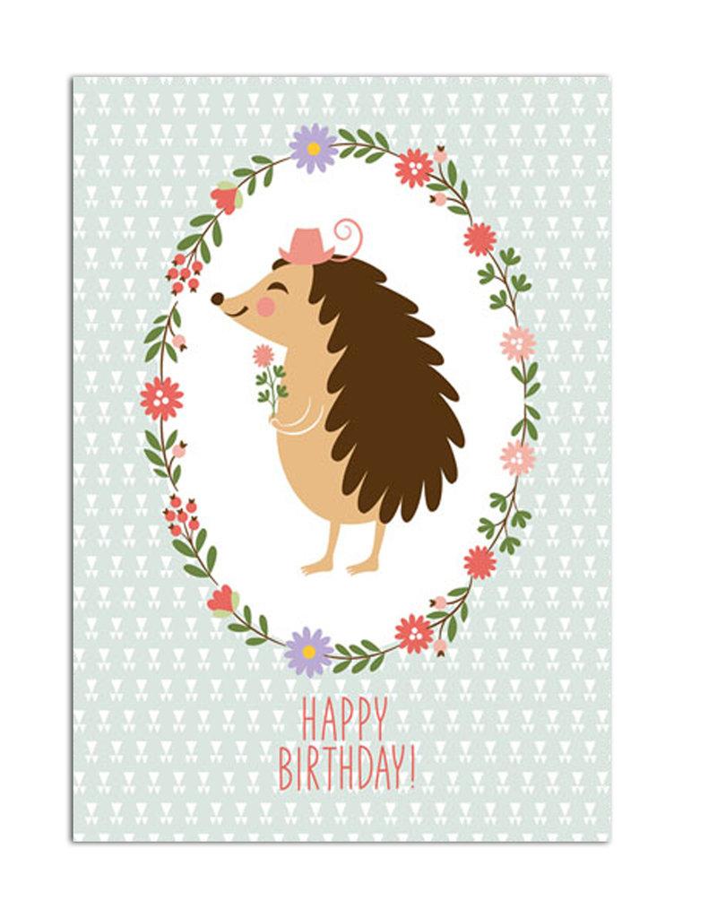 "Geburtstagskarte ""Igel"" Postkarte Geburtstag"