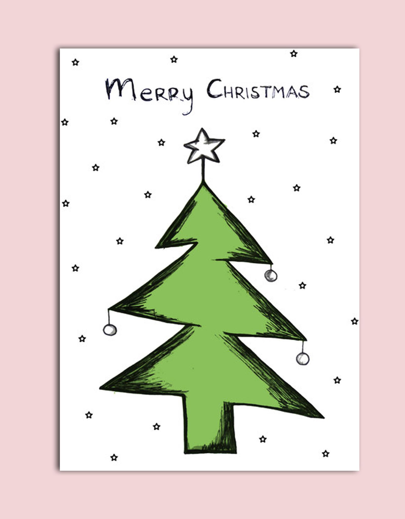 """Postkarte Weihnachten """"Tannenbaum"""""""
