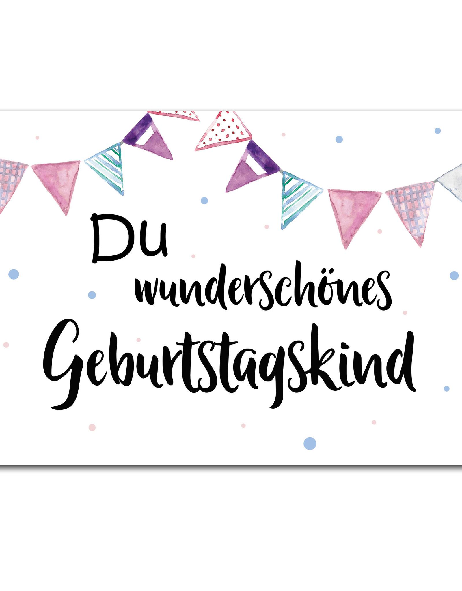"""Geburtstagskarte """"Du wunderschönes Geburtstagskind"""""""