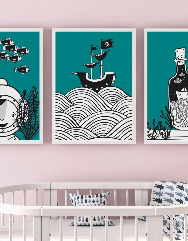 Wandbilder 3er Set \