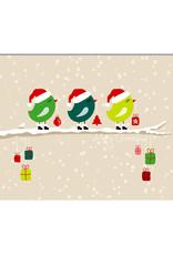 """Postkarte Weihnachten """"Vögel Geschenke"""" Weihnachtskarte"""