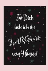 """Postkarte Weihnachten dunkel """"Zimtsterne"""""""
