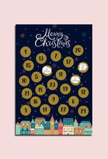 DIY Adventskalender A4 zum Rubbeln, Rubbeladventskalender