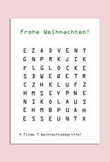Weihnachtskarte Wortsuche Postkarte Weihnachten